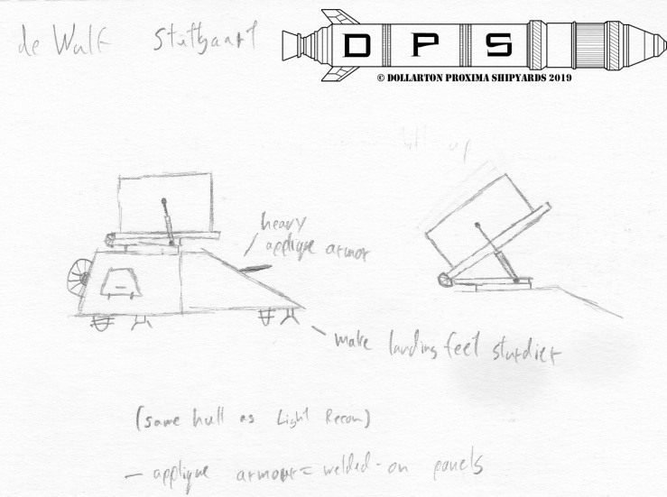 Sketch - deWulf Stuttgart fire support tank