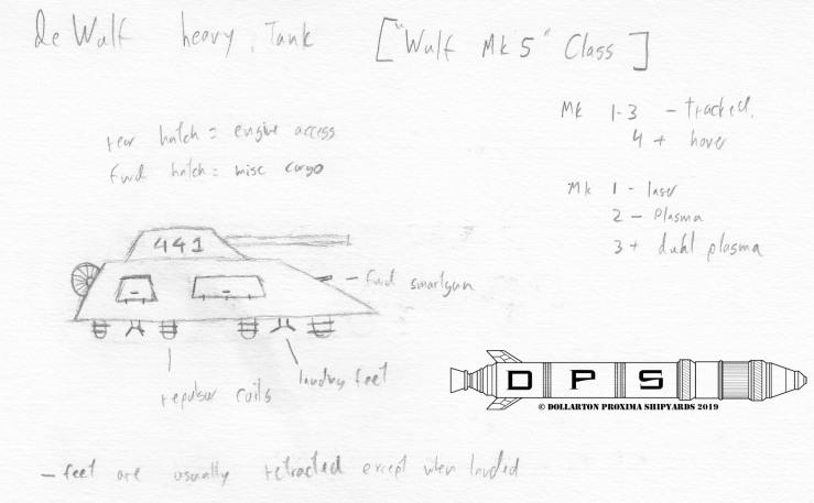 Sketch - deWulf Wulf Heavy Tank