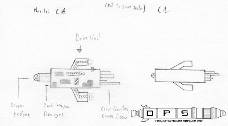Naril Heavy Cruiser Sketch